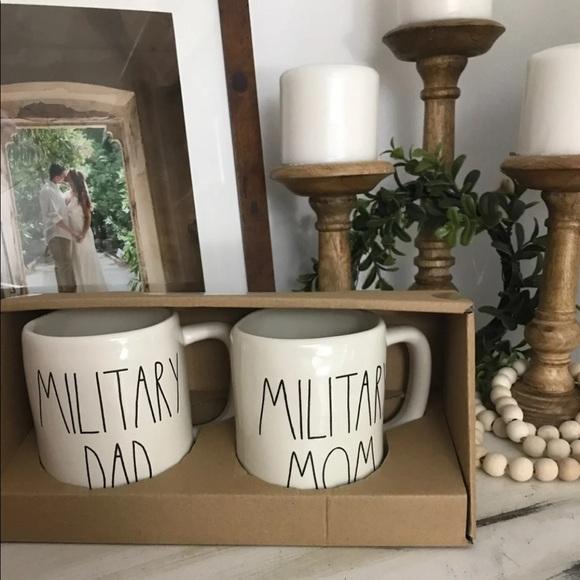 Rae Dunn Other - Rae Dunn Military Mom & Dad set of mugs